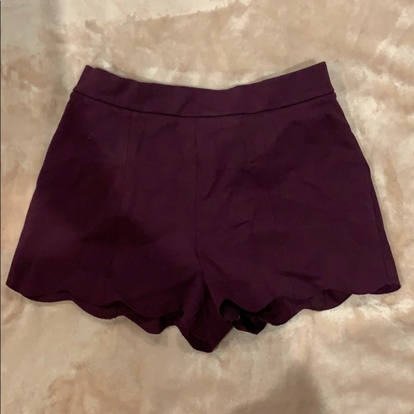 Urban Outfitters Pants - Plum scalloped shorts